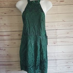 Halter dress green lace